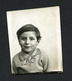 1931 photobooth photograph of unknown boy