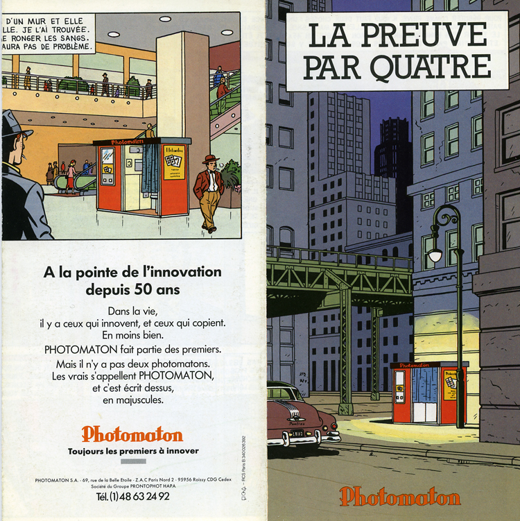 1980s French Advertising material for Photomaton, by Ted Benoit